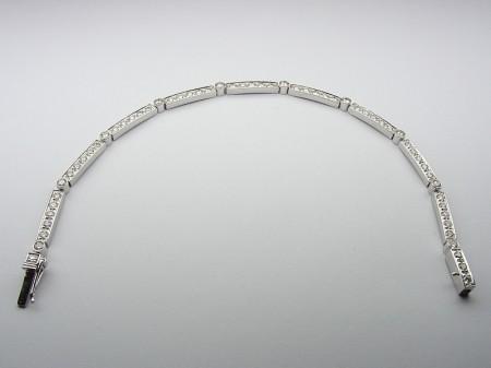 Bransoleta z białego stopu złota pr. 585