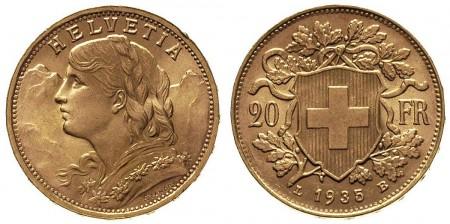 20 franków Szwajcaria